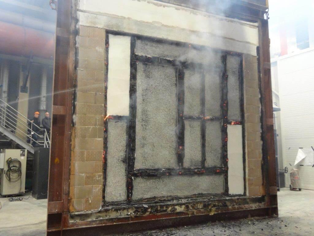 Brandschutzfenster F90 Prüfung