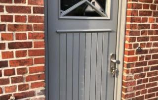 Haustür zweifarbig Landhausstil