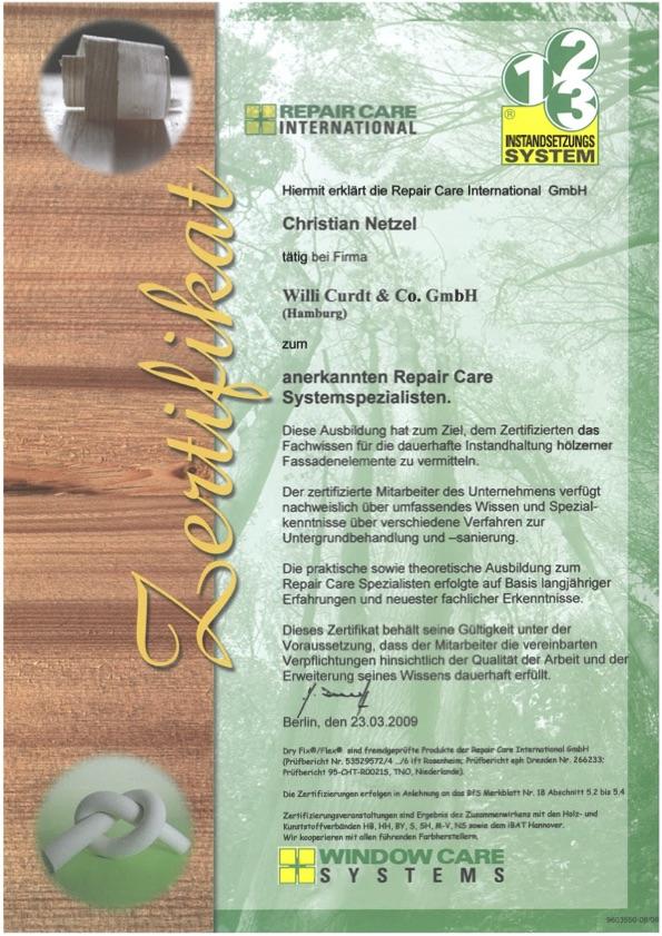 Repair Care Zertifikat